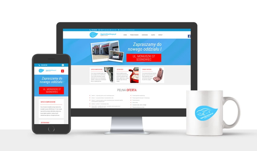 Obrazek 1 - Projekt i wdrożenie strony internetowej myjni samochodowej – Myjnia Obok Targu