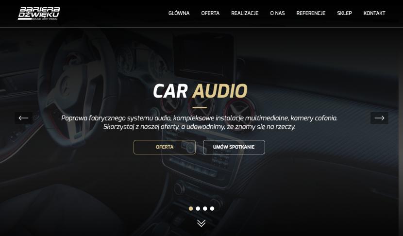 Obrazek 1 - Projekt i wdrożenie strony internetowej Bariera Dźwięku
