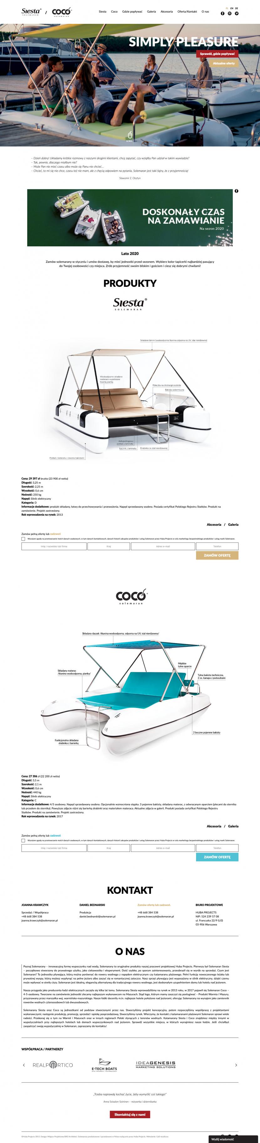 Strona główna - Wdrożenie minimalistycznej strony internetowej – Solemaran